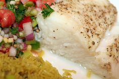 Anthony's ling cod recipe with sour cream dill sauce.  Yummy