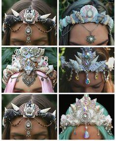 Hair accessory: jewels crown flower crown jewelry mermaid halloween accessory fantasy