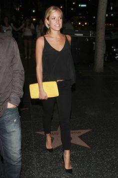 Sexy black on black on black date night outfit || Kristin Cavilari