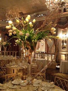 Fresh Tulips, Gold Manzanita, Winter Wedding