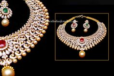 Changeable Stones Diamond Bridal Necklace Set | Latest Indian Jewellery Designs