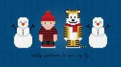 Calvin and Hobbes - PixelPower - Amazing Cross-Stitch Patterns http://pixelpowerdesign.com/shop/kids-and-fun/product/show/329-calvin-and-hobbes