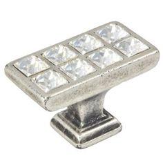 pomos swarovski plata mate tiradores herrajes mueble diseno italiano 284 comprar venta online 10014sw