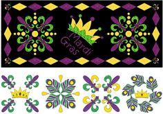 Mardi Gras Table Runner Pattern CLS-110 (intermediate, home decor & houseware)