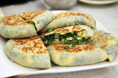 garlic chive calzone | Taiwanese food