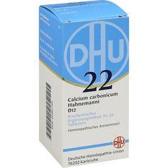BIOCHEMIE DHU 22 Calcium carbonicum D 12 Tabletten: Schüssler Salz Nr.22  Packungsinhalt: 200 St Tabletten PZN: 02581722 Hersteller:…
