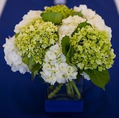 green and white hydrangeas...I'm obsessed with green and white floral arrangements right now!! Perfect for spring!