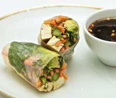 asparagus & tofu spring rolls!