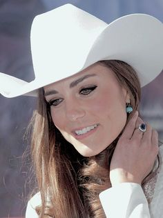 Catherine, Duchess of Cambridge, watches a rodeo demonstration at a Government Reception at the BMO Centre on July 7, 2011 in Calgary, Canada.