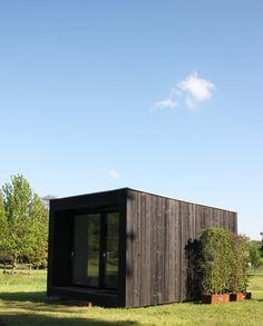 deck wood, poolhouse, cabane en bois, abri de jardin sur vis de fondation  HAPPAX