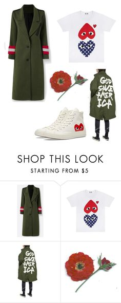 """""""God Save America"""" by littlelovelylex ❤ liked on Polyvore featuring R13 and Converse"""