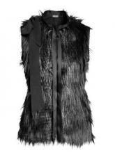 To find out about the Black High Neck Sleeveless Zipper Fur Vest Coat at SHEIN, part of our latest Outerwear ready to shop online today! Black Fur Vest, Black Faux Fur Coat, Black Winter Coat, Faux Fur Gilet, Faux Fur Jacket, Cardigan Noir, Chloe, Fur Waistcoat, Vest Coat