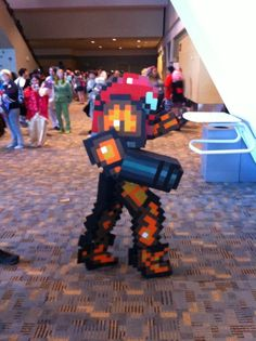 Samus Pixelated Cosplay by ~ChozoBoy on deviantART