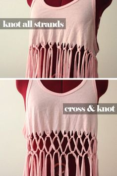 DIY Macrame Swim Suit Cover-Up... with tutorial...