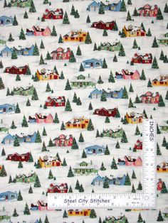 Made by: Makower UK Fabric. Collection / Print Retro Christmas Collection / Retro Houses and Snow. This fabric is: wide, cotton, new and right off the bolt. All of our fabrics are from a smoke-free, pet-free, clean studio. Christmas Fabric, Retro Christmas, Snow Holidays, Innocent Child, Birth Of Jesus, Decorating Ideas, Christmas Decorations, Fabrics, Yard