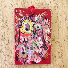 Merry Morepork/Owl Decoration Red (4) Nativity, Fun Facts, Gift Wrapping, Owl, Merry, Decoration, Christmas, Gifts, Design