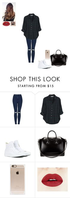 """""""Untitled #34"""" by gabby-1606 on Polyvore featuring Topshop, Xirena, Converse, Givenchy, Incase, women's clothing, women, female, woman and misses"""