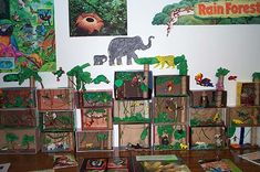 Rainforest Diorama Ideas very cute! I must try this next year :) Daisy Party, Nature Activities, Activities For Kids, Rain Forest Diorama, Rainforest Project, Forest Classroom, Zoo Project, Autumn Clematis, Valentines Day For Him