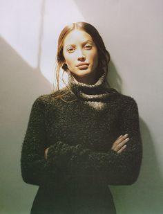 Christy Turlington photographed by Patrick Demarchelier for Harper's Bazaar, September 1993