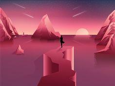 The dream road by Julien #Design Popular #Dribbble #shots