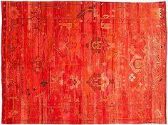 beautiful overdyed rug
