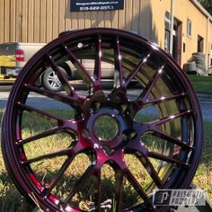 Cool Car Accessories, Car Interior Accessories, Custom Muscle Cars, Custom Cars, Candy Paint Cars, Pink Rims, Rims For Cars, Car Mods, Truck Wheels