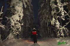 En Laponia con 25 grados bajo cero