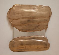 """Nancy Lorenz, Moon Gold Pour, 2011 gold leaf, silver leaf, and resin on glass 12 x 11.5"""""""