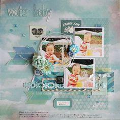 water baby by:マリコ #スクラップブッキング