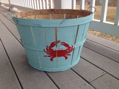 Eastern Shore Hand Painted Crab Bushel Baskets with by Shoregoose