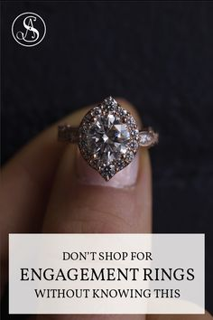 Free PDF guide for everything you need to know before you buy the engagement ring. Engagement Ring Guide, Perfect Engagement Ring, Designer Engagement Rings, Wedding Tips, Custom Jewelry, Diamond Earrings, Crystals, Pdf, Free