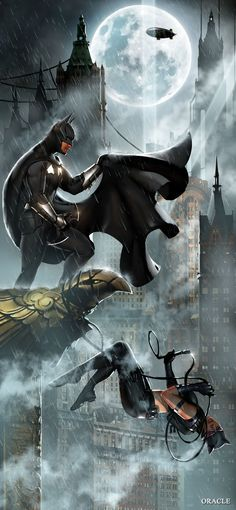 Batman and Catwoman by Mystic Oracle *
