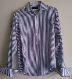 5ec8954a0 Michelsons of London #shirt Men Size 15-32/33 Slim Fit French cuffs