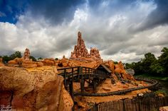 Some rather intense clouds over Big Thunder Mountain at Walt Disney World's Magic Kingdom.