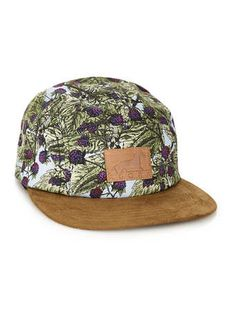 Agora Vintage Blackberry 5 Panel Snapback Cap* - Caps - Hats  - Shoes and Accessories