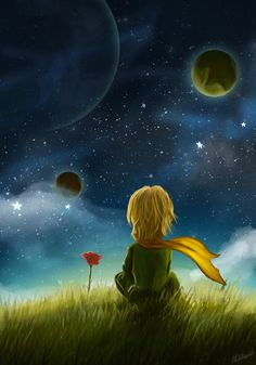 Goodbye scene by - Petit prince - Flower Little Prince Quotes, The Little Prince, Galaxy Wallpaper, Disney Wallpaper, Whimsical Art, Cute Wallpapers, Wallpaper Wallpapers, Cute Art, Fantasy Art