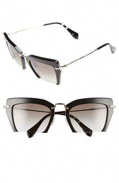e05d81f4dd3b Miu Miu     39  noir     39  54 mm Cat Eye-Sonnenbrillen sind bei   Nordstrom  MiuMiu erhältlich