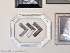 This easy to make wooden shim wall art with be a favorite piece on your gallery wall and it's so easy to make!