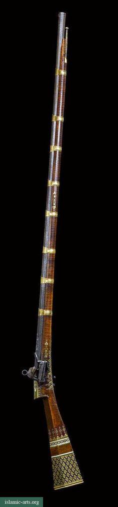 Fusil de chispa otomano con decoración de marfil. Turquía, siglo 17