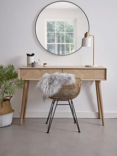 Chevron Oak Dressing Table - Luxury Bedroom Furniture - Furniture by Type - Modern Home Furniture