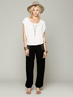 Free People Leighanna Smocked Pant