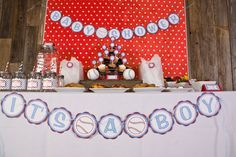 Baseball Baby Shower Banner ITS A BOY by getthepartystarted