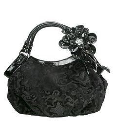 Another great find on #zulily! Black Velvet Shoulder Bag #zulilyfinds