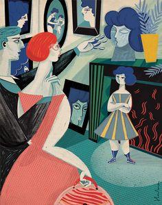 Brilliant texture and narrative in Gosia Herba's editorial illustrations