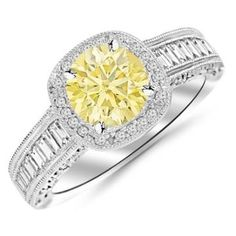 https://ariani-shop.com/145-carat-14k-white-gold-designer-baguette-and-round-cushion-shape-halo-diamond-engagement-ring-with-a-075-carat-natural-untreated-yellow-diamond-center-heirloom-quality 1.45 Carat 14K White Gold Designer Baguette and Round Cushion Shape Halo Diamond Engagement Ring with a 0.75 Carat Natural Untreated Yellow Diamond Center (Heirloom Quality)