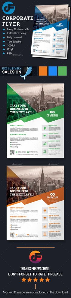 Clean Corporate Flyer Template  Design Inspiration