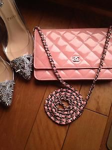Authentic Chanel Wallet on Chain Flap Rose Pink 2013 Cruise   eBay