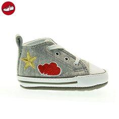 Converse - Converse All Star Kinderschuhe Grau First Star - Grau, 18 - Kinder sneaker und lauflernschuhe (*Partner-Link)