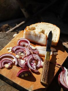 Decades ago peasants took country bacon, onion and bread to work on the fields. Although I watch what I eat, but sometimes it tastes wonderful to be bad Croatian Recipes, Hungarian Recipes, Hungarian Cuisine, Hungarian Food, Best Food Ever, Polish Recipes, Recipes From Heaven, Food Photo, Onion Bread