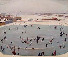 Johan van Hell (NL 1889-1952)The skaters (1919)